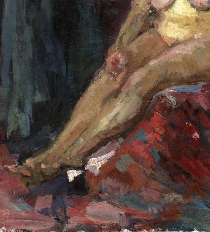 Russischer expressionist l leinwand akt 70x60 cm ebay for Fenster 70x60