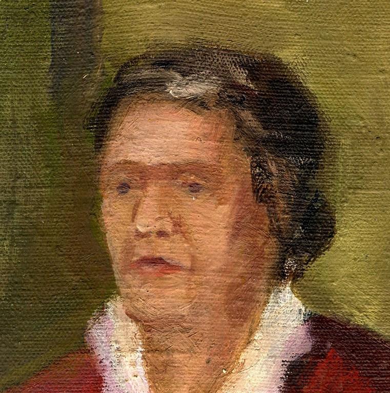 Russischer realist expressionist l leinwand frau mit for Fenster 70x60
